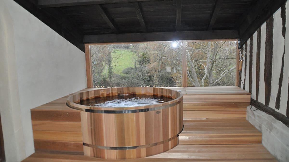 galerie photos sauna et spa bois bain nordique terrasse. Black Bedroom Furniture Sets. Home Design Ideas