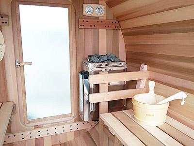 Sauna Bois Extrieur Intrieur Et Douche  Hestia Ct Bois